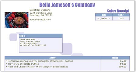 Easily Generate and Print or Email Sales Receipts QuickBooks – Payroll Receipt Template